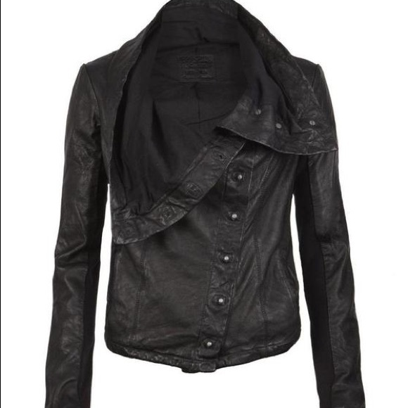 All Saints Black Kaito Leather Biker Jacket